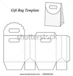 Shopping bag blueprint google search boxes pinterest gift bag template with round lid vector illustration stock vector malvernweather Choice Image