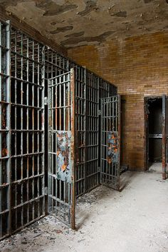 (Abandoned Jail Cells by zfein, via Flickr) I like this image because I imagine this is what Jefferson's cell looked like.