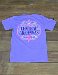 Don't you just love the UCA Bears? Show your school spirit in this new University of Central Arkansas Comfort Color t-shirt! GO BEARS!