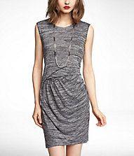 draped knit dress