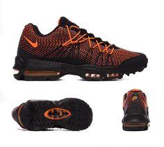 new style 9888c 8721b Nike Air Max 95 Ultra Jacquard Trainer   Black   Orange   Crimson    Footasylum Adidas