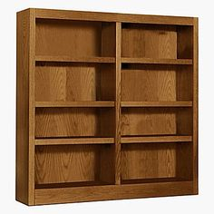 Concepts in Wood Double Wide 48'' Bookcase; Dry Oak