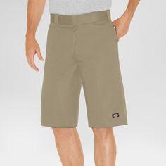 Dickies Men's Relaxed Fit Twill 13 Multi-Pocket Work Short- Khaki (Green) 30