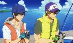 Anime, Ocean, Sleepy, Cap, Friends, Fingerless Gloves, Vest