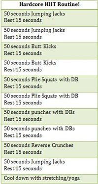 jumping jack hiit routine Done today on my rest day! Left me feeling AWESOME.