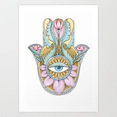 Hamsa Art, Hippie Men, Psychedelic Art, Canvas Prints, Art Prints, Adult Coloring, Zen, Whimsical, Rainbow