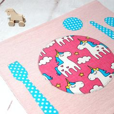 The Montessori #placemat #tablesetting #unicorn help the #kids to properly arrange the utensils on the table. The kitchen is a very #educational living space for your children to evolve in. Heres a trick to ease the childs daily life as well as yours at the same time! Kids Place mats: