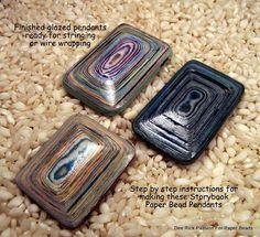 Paper Bead Pendants Tutorial Instant Download $7.99
