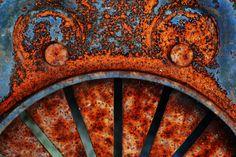 texture / rouille / cercle / courbe / gris / orange