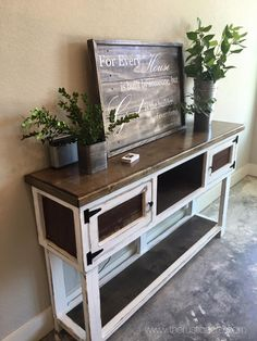 Farmhouse buffet table custom built shabby chic great as a entry sofa small kitchen sink nyc Furniture, Shabby Chic Living Room, Shabby Chic Wallpaper, Farmhouse Buffet, Shabby Chic Table, Shabby Chic Curtains, Shabby Chic Furniture, Shabby Chic Homes, Chic Home Decor