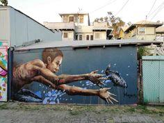 The one that got away, Weslake, Los Angeles Fintan Magee Graffiti Art, Murals Street Art, 3d Street Art, Street Art News, Urban Street Art, Best Street Art, Amazing Street Art, Mural Art, Street Art Graffiti