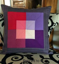 Purple and red cushion pillow kissen