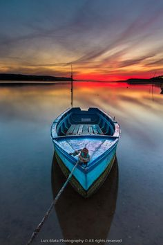 wowtastic-nature:   The blue boat on 500px by Luis Mata...