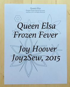 Queen Elsa Frozen Fever dress stencil template designs by joy2sew on Etsy