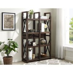 Shop for Ameriwood Home Wildwood Mahogany Wood Veneer Bookcase/ Room Divider. Get free shipping at Overstock.com - Your Online Furniture Outlet Store! Get 5% in rewards with Club O! - 20089751