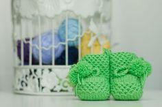 Baby Wool Boots - Green  https://www.facebook.com/flocosdela