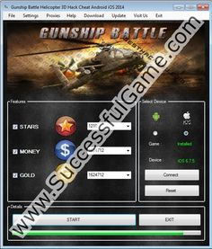 Download GUNSHIP BATTLE : Helicopter 3D Hack v7.2 for Android and iOS devices and get right now tons of Free Money and Free Gold.