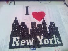 I love New York. Hama Beads mini.