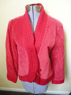 Beautiful Boho Hippie Womens Coldwater Creek Red Suede Jacket M New With Tags Mint $24.99  http://cgi.ebay.com/ws/eBayISAPI.dll?ViewItem=300855676656=STRK:MESE:IT