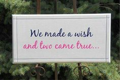 Items similar to Twins Nursery sign - We made a wish and two came true Hand made - Solid Wood Sign Sinage baby boy girl on Etsy Twin Baby Boys, Twin Girls, Twin Babies, Twin Quotes, Boy Quotes, Twins Announcement, Pregnancy Announcements, Make A Wish, How To Make