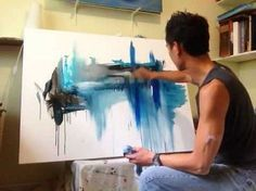 Five Easy Steps to create amazing landscape abstract art painting - YouTube