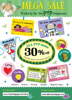 All PYP items 30% off on our shop:  http://www.thepedagogs.com/cscart/index.php?target=categories&category_id=264 #PYP #LearnerProfile