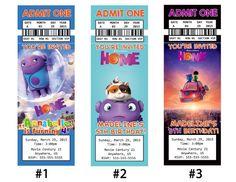 DreamWorks Home Movie Tickets Birthday Party 4th Birthday Parties, Birthday Ideas, 5th Birthday, Daughter Birthday, Birthday Decorations, Dreamworks Home, Movie Invitation, Movie Party, Home Movies