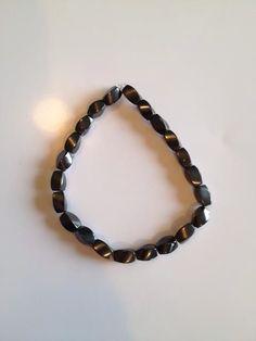 Handmade hematite bracelet. Good for circulation and feeling well!