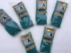 Lot of 6 Caron Latch Hook Rug Yarn Marine 320 Pre-Cut Pieces 100% Acrylic    eBay