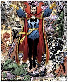 Dr Strange by John Byrne Marvel Universe, Marvel Comics Art, Marvel Comic Books, Marvel Dc Comics, Marvel Heroes, Comic Books Art, Comic Book Artists, Comic Book Characters, Marvel Characters