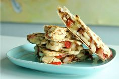 10 Clean, Plant-Based Recipes to Save You Time in the Kitchen! Pictured: Banana-Strawberry Dillas.