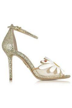 Charlotte Olympia Margherite Platinum White and Sunshine Yellow Glitter and Leather Sandal https://modasto.com/charlotte-ve-olympia/kadin-ayakkabi/br4540ct13 #modasto #giyim