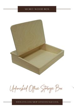 Organizer for office accessories made of pine wood and plywoodThis organizer is not covered with lacquer, it is unfinished wood item ready to be decorated.It is a great gift for those who love Decoupage technicques. #officestoragebox, #artsupplyorganizer, #artsupplystorage, #enjoythewood, #secretwoodbox, #woodenboxwithhingedlid, #woodentrinketbox, #woodenmemorybox, #wooden, #deskorganizer, #unfinished, #woodenboxorganizer Unfinished Wood Boxes, Painted Wooden Boxes, Wooden Gifts For Her, Wooden Box Designs, Wooden Memory Box, Wooden Desk Organizer, Art Supplies Storage, Wooden Man, Rustic Crafts