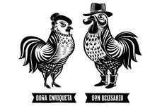 """Don Belisario Restaurant Logo and Identity Part II — we love with the woodcut feel of the Belisario """"family"""" — perfect touch :)"""