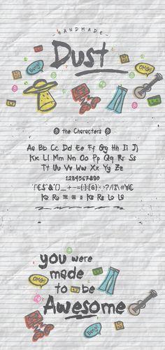 Dust + Doodle. Display Fonts. $12.00