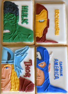 #Avengers cookies - via http://bit.ly/epinner