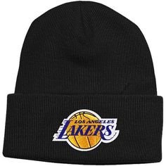 62bf3397ea9 Los Angeles Lakers Cuffed Knit Hats Lakers Store