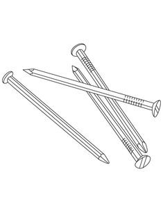 Metal Nails Coloring Pages