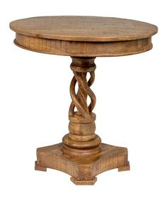 This Natural Wood Bella Round Table is perfect! #zulilyfinds