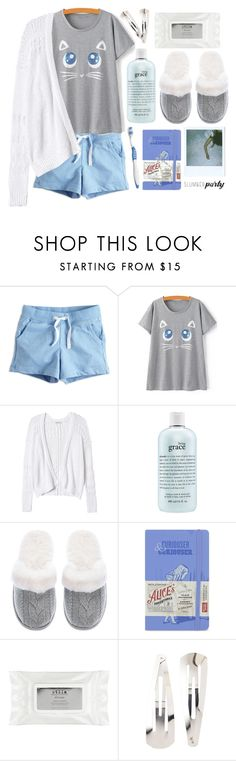 """""""slumberparty!"""" by helena-myers ❤ liked on Polyvore featuring Rebecca Taylor, philosophy, Victoria's Secret, Moleskine, Stila, Adia Kibur, contest and slumberparty"""