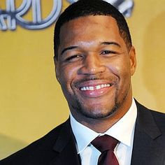 just love this man! Close to my maiden name, Sorahan for one and saw him with Kelly Rippa.so funny and sweet! Nfl Sunday, Superbowl Champions, Michael Strahan, Hard Men, Keynote Speakers, My Crush, Beautiful Smile, A Good Man, Just Love