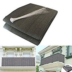Shsyue Balcony Privacy Filter – Weather-resistant Wind Screen Anthracite UV Protection Balcony Covering with Cable Ties 500x90cm