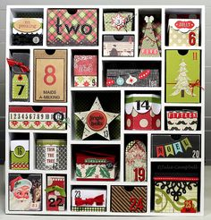 Advent Calendar (Christmas Countdown) by @Julie Campbell #Silhouette #Cameo