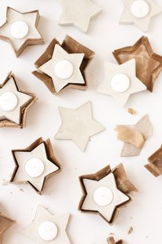 DIY Beton-Teelicht-Halter in Stern-Form | Paper and Stitch
