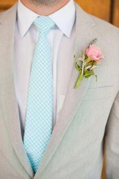 baby blue wedding; Groom's Suit #watters #tiffanyblue http://www.pinterest.com/wattersdesigns/