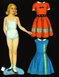 Vintage 1958 Milton Bradley Paper Doll Magnetic Magic Mary Lou