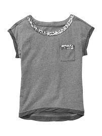 Girls' Ts & Polos: cotton t-shirts, turtleneck tees, long-sleeve ts, uniform polo shirts at GapKids Clothing Hacks, Kids Clothing, Stylish Dresses For Girls, Fashion Graphic, Schneider, Denim Outfit, T Shirt Diy, Diy Clothes, Blouse Designs