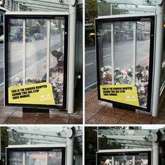 Um die Bewohner von Auckland auf die Müll-Problematik aufmerksam zu machen, lies sich die Agentur Colenso BBDO diese geniale Guerilla Marketing Idee einfallen. Der