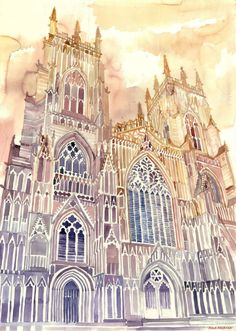 New Architectural Watercolors By Polish Architect Maja Wrońska - - New Architectural Watercolors By Polish Architect Maja Wrońska kunst Neue architektonische Aquarelle von der polnischen Architektin Maja Wrońska Watercolor Architecture, Architecture Sketchbook, Architecture Antique, Art And Architecture, Popular Art, Arte Popular, Sketches Arquitectura, A Level Art, Watercolor Sketch