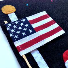 Quiet Book: Flag-raising (4th of July Part 2)